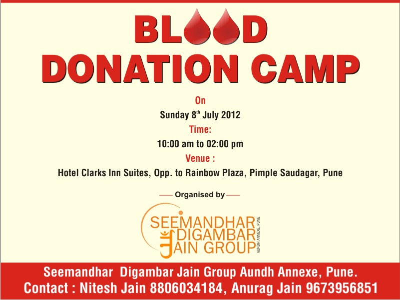 Invitation Card Format For Blood Donation Camp