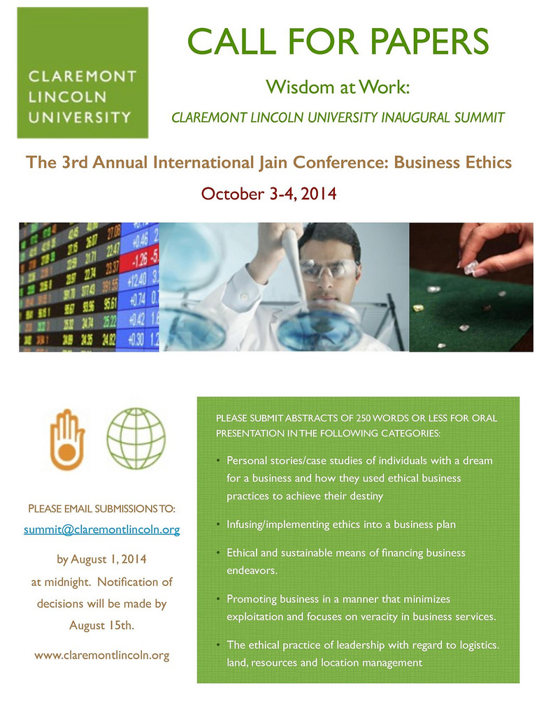 2014.10.3-4 CLU 3rd Annual International Jain Conference