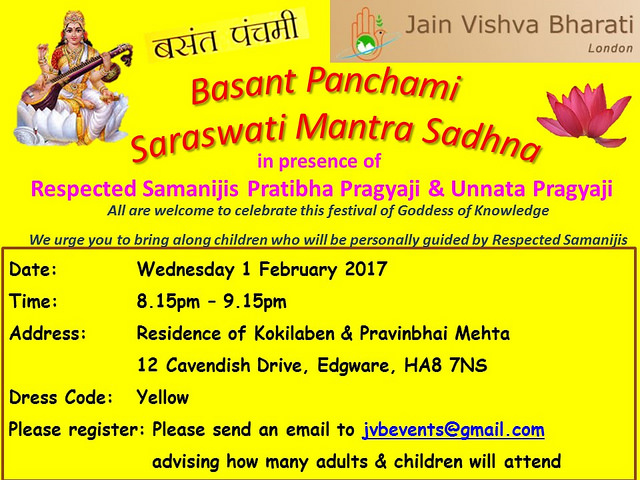 2017.02.01 JVB London Basant Panchami Celebrations