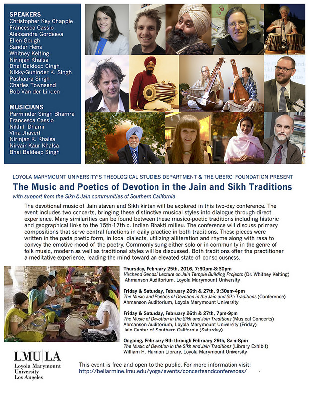 2016.02.25-27 LA.The Music and Poetics of Devotion in the Jain and Sikh Traditions